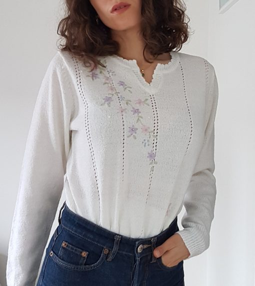 60s Embroideries Jumper