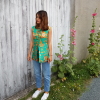 Floral Pattern Asiatic Blouse