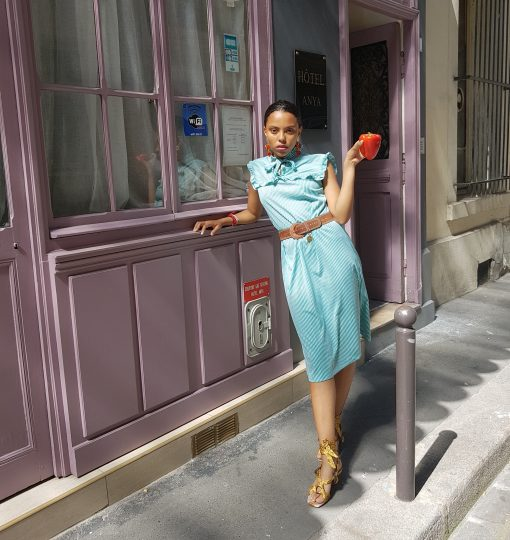 50s striped Dress