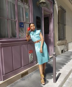 50s striped Dress