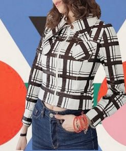 60s Checkered Short Jacket