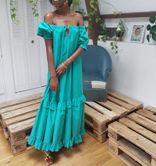 emeraude green dress